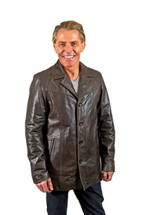 buy the latest Classic Sb Mens Leather Jacket With 3 Buttons And Collar online